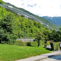 snelweg A9 en de E62 Zwitserland