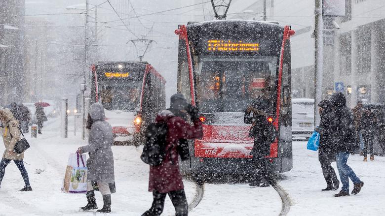 Sneeuwstorm in Den Haag -