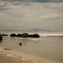 Moeraki Boulders in Nieuw Zeeland