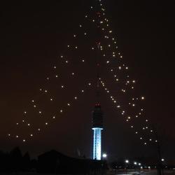 Kerstboom mast