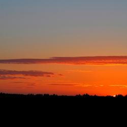Zonsondergang in almere