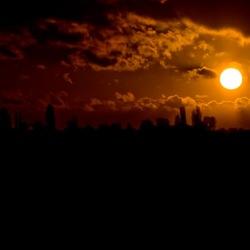 Zonsondergang bij 's-Hertogenbosch