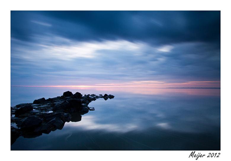 Silence............ - zonsondergang bij lauwersoog..............