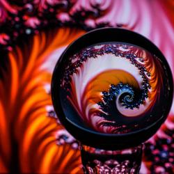 fractal in een bol