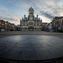 Delft Stadhuis en windroos