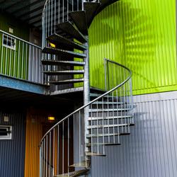 Wenteltrap Studentenflat aan het Damsterdiep Groningen