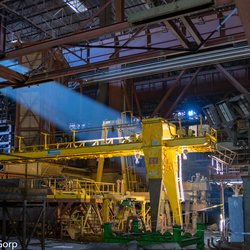 Abandoned steel mill