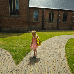 The girl with the golden bag at Diessen the Netherlands Zoom