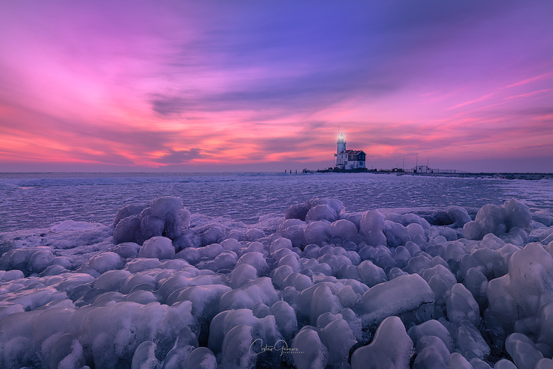 Cold sunrise in Marken - Deze foto is van afgelopen maart in Marken. Toen was -8°C met gevoels temperature van -15°C. Wie weet wat deze winter...of le