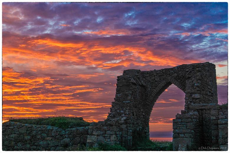 Sunset at Grosnez Castle -