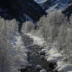Winters landschap van Oostenrijk