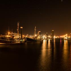 Haven Lauwersoog bij nacht (1)