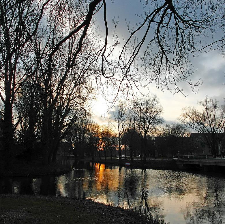 Namiddag in januari - Deze foto heb ik tegen zonsondergang genomen