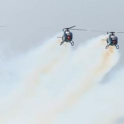 Stuntende heli's, 75 jarig bestaan Spaanse luchtmacht