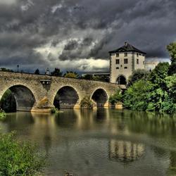 Oude brug in Duitsland