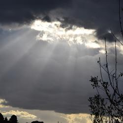 wolkenlucht boven Schin op Geul