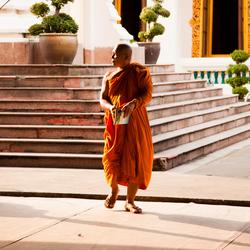 Monnik in Bangkok