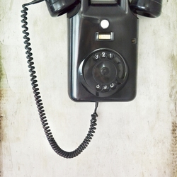 Old telephone, vintage