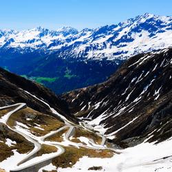 De Gotthard pas in Zwitserland