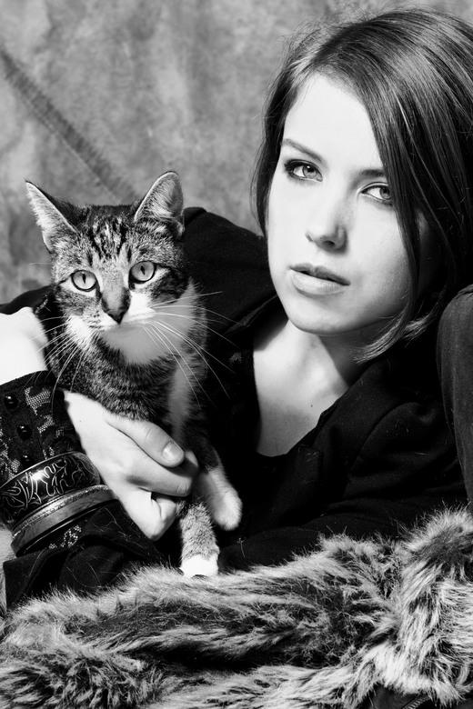 Kat en mode -