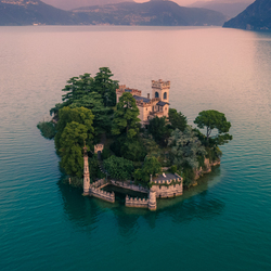 Prive eiland in Italie