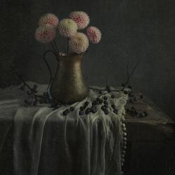 stilleven met bloem