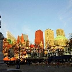Uitkijkend over nieuw Den Haag