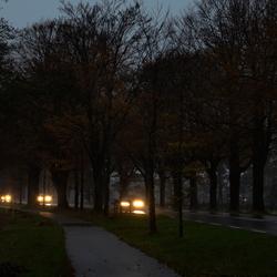 Natte koude ochtend