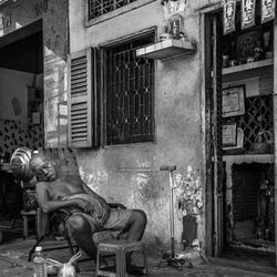 Middag dutje in Vietnam