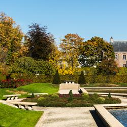 Herfst, kasteeltuinen Arcen.