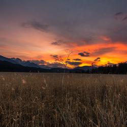 Zonsondergang Hermagor Oostenrijk