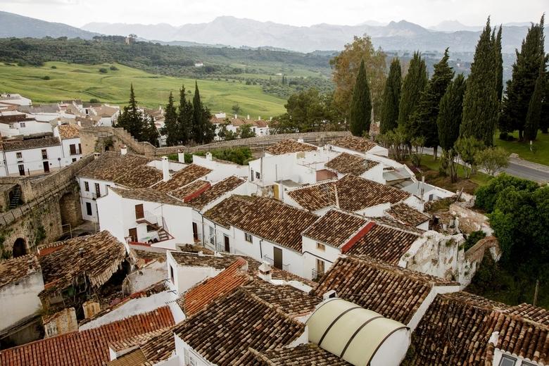Spanje 29 - Uitzicht over Ronda en omgeving.