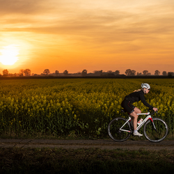 Biking by sundown