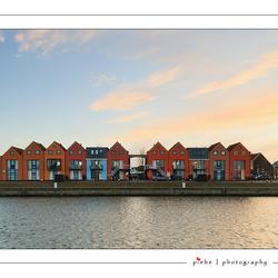 Huizen in de haven van Stavoren