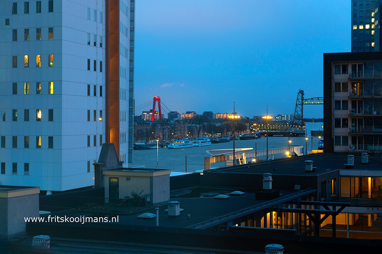 Uitzicht vanuit hotel Bruno in Rotterdam - 20200222 7375 Uitzicht vanuit hotel Bruno in Rotterdam
