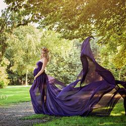 Danica dress purple