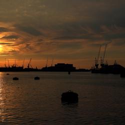 Waalhaven sunset 01