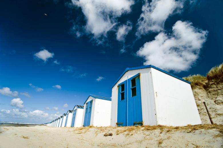 Blauwer - Zoals te zien is aan deze fijne blauwe strandhuisjes was ik afgelopen weekend op Texel om even uit te waaien en om een paar dagen weg te zij