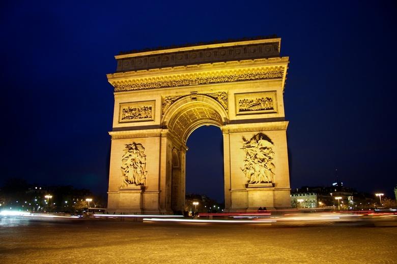 De Arc de Thriomphe, Parijs - Uitzicht op de Arc de Triomphe.