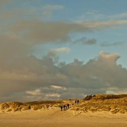 Winter wandeling bij  Blåvand strand