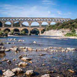 Pont du Gard in het Franse landschap