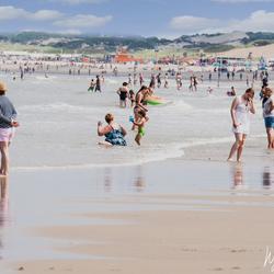 Busy on the beach