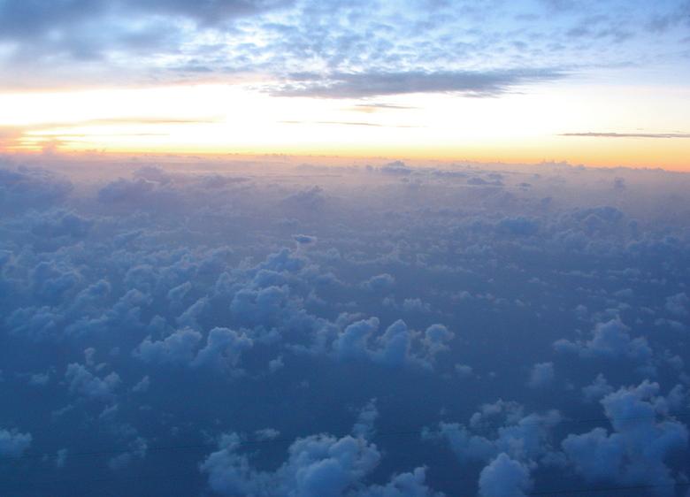 Foto vanuit vliegtuig
