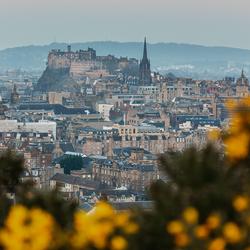 Edinburgh voor zonsopkomst
