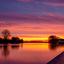 Kleurrijke zonsopkomst