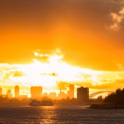 Rotterdam Sky on Fire