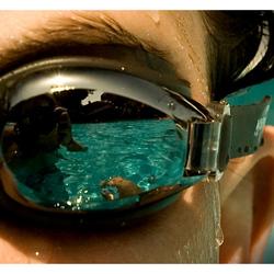 zwembril reflectie