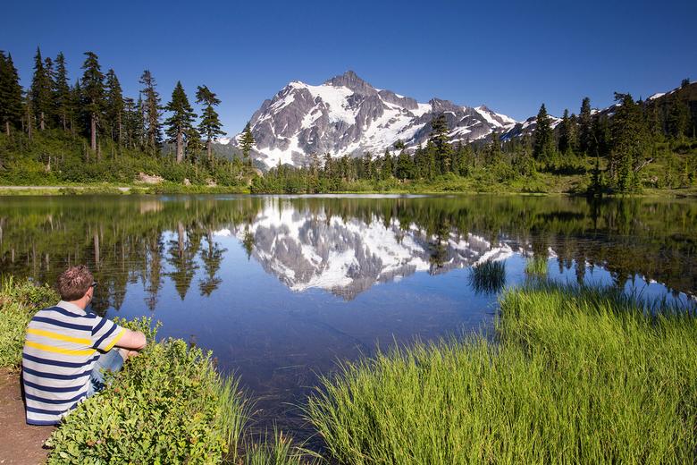 Genieten van een heerlijk uitzicht - Genieten van een heerlijk uitzicht in de North Cascades in de V.S.