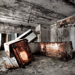 Pripyat, locker rooms swimming pool