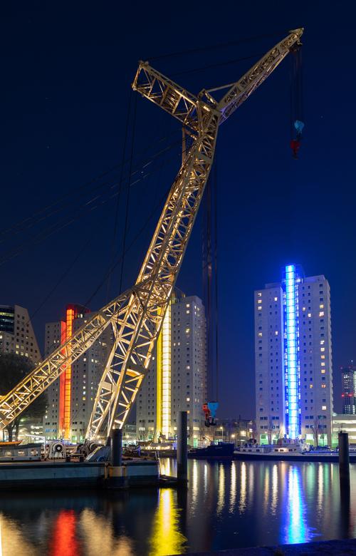 Rotterdam haven - stukje rotterdam wat 's avonds erg tof is!